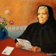 Arte: VICENÇ OLIVER ARASANZ (BARCELONA, 1896 - 1970) OLEO SOBRE TELA. RETRATO DE MAURICIA VIVES Y GABALDA. Lote 194534942