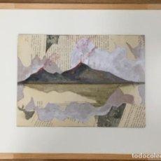 Arte: VOLCANES. ACRÍLICO SOBRE MADERA. COSTA AMALFI. ITALIA. . Lote 194535723