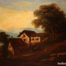 Arte: ESCUELA HOLANDESA FIRMADO CON INICIALES F.F. OLEO SOBRE TELA. FECHADO DEL AÑO 1849. Lote 194537245