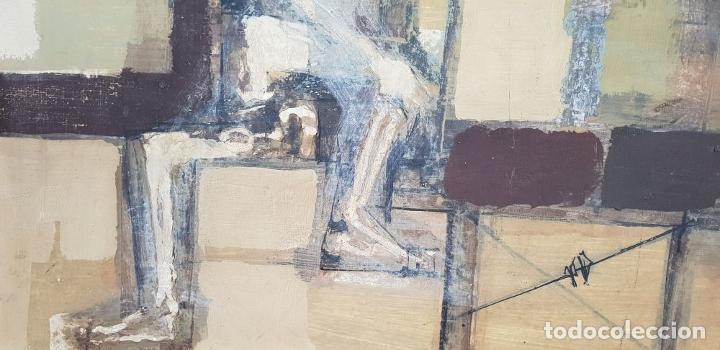 Arte: ABSTRACTO. ÓLEO SOBRE TABLA. FERNANDO MIGNONI. SIGLO XX. - Foto 9 - 147439330