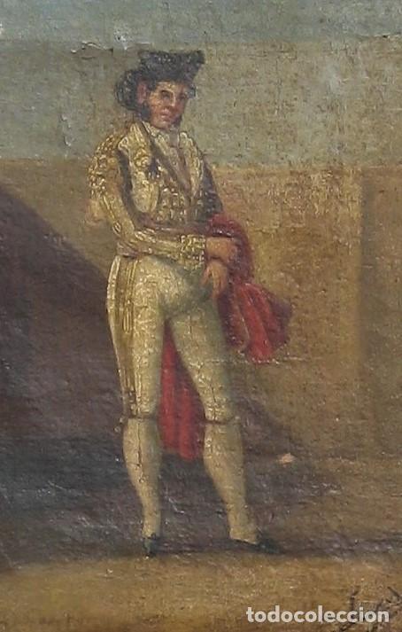 Arte: Oleo sobre tabla -Torero - por Eugenio Lucas Villaamil 1858-1919 - Foto 2 - 194514252