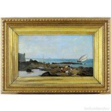 Arte: ESCUELA ITALIANA SIGLO XVIII. ÓLEO SOBRE LIENZO. MARINA. Lote 194554066
