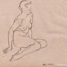 Arte: DIBUJO/DIBUIX DE ENRIC C RICART NIN. 1917. Lote 194594740