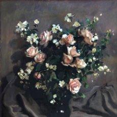 Arte: JOSEP PUIGDENGOLAS BARELLA (1906-1987) - BODEGÓN DE FLORES - ÓLEO SOBRE LIENZO. Lote 194595705