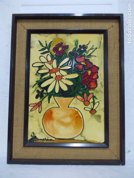 VANESSA (VALENTIN NECTOR SALADRIGAS). ESMALTE A BAJA TEMPERATURA 69. X 51,5 CM. (Arte - Pintura - Pintura al Óleo Contemporánea )
