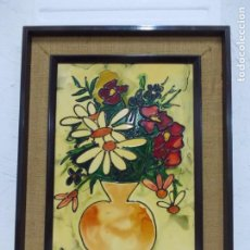 Arte: VANESSA (VALENTIN NECTOR SALADRIGAS). ESMALTE A BAJA TEMPERATURA 69. X 51,5 CM. . Lote 194600493