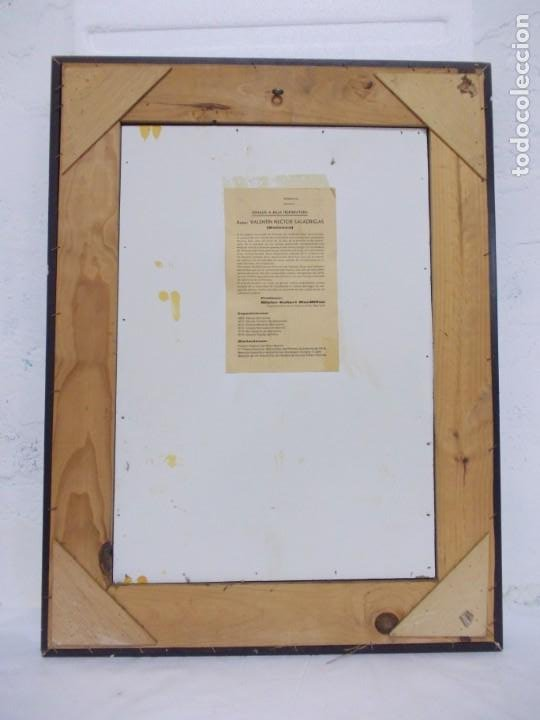Arte: VANESSA (VALENTIN NECTOR SALADRIGAS). ESMALTE A BAJA TEMPERATURA 69. x 51,5 cm. - Foto 2 - 194600493