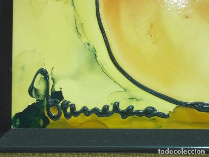 Arte: VANESSA (VALENTIN NECTOR SALADRIGAS). ESMALTE A BAJA TEMPERATURA 69. x 51,5 cm. - Foto 4 - 194600493