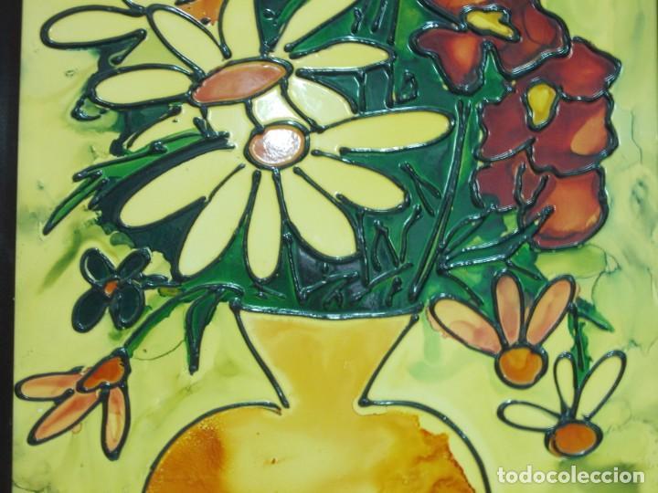 Arte: VANESSA (VALENTIN NECTOR SALADRIGAS). ESMALTE A BAJA TEMPERATURA 69. x 51,5 cm. - Foto 5 - 194600493
