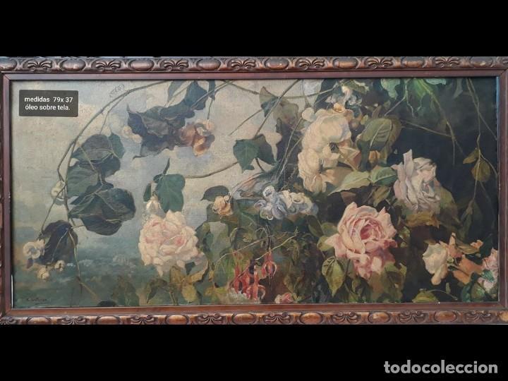 RAFAEL LATORRE VIEDMA (GRANADA 1872-1960 ) FLORES (Arte - Pintura - Pintura al Óleo Contemporánea )