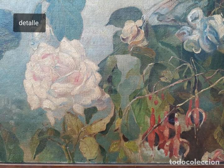 Arte: Rafael Latorre Viedma (Granada 1872-1960 ) FLORES - Foto 3 - 194609491
