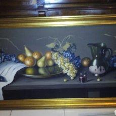Arte: GRAN OLEO SOBRE LIENZO,BODEGON 1,43X73 M ,J.ROS.. Lote 194626075