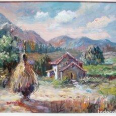 Arte: CUADRO PAISAJE AL ÓLEO SOBRE LIENZO Y ENMARCADO. FIRMADO DANFORD.. Lote 194638290