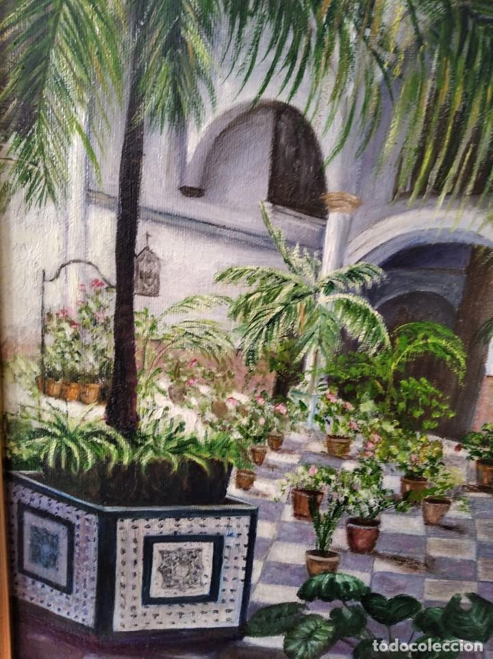 Arte: PATIO ANDALUZ. FIRMADO PAREDES. LIENZO 47X38. CON MARCO 60X50. - Foto 5 - 194643850