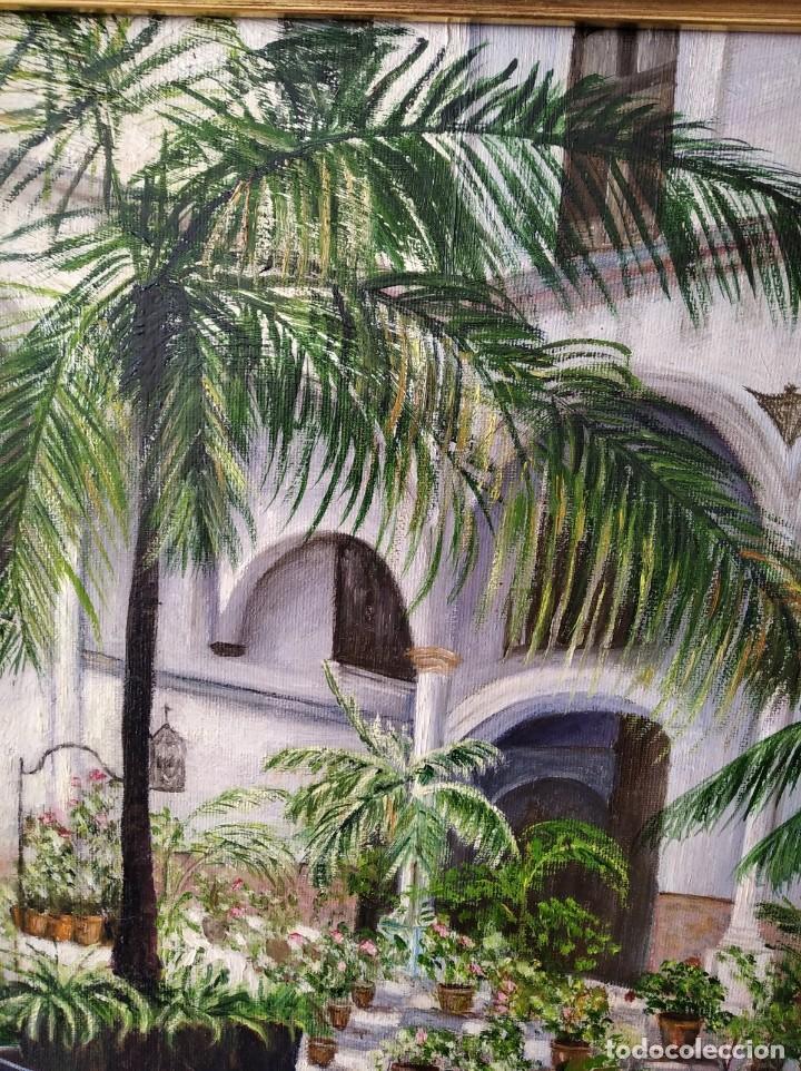 Arte: PATIO ANDALUZ. FIRMADO PAREDES. LIENZO 47X38. CON MARCO 60X50. - Foto 7 - 194643850