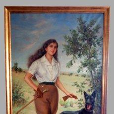 Arte: RICARDO SEGUNDO GARCIA ( 1903-1983 ) RETRATO AL OLEO - 201 X 128 CMS . Lote 194651570