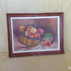 Arte: ÓLEO SOBRE TABLA, BODEGÓN SURREALISTA, ENMARCADO EN MADERA, UNOS 55 X 41 CMS.. Lote 194652908