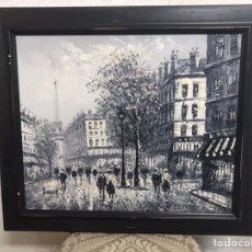 Arte: PINTURA AL ÓLEO SOBRE LIENZO DE PARIS FIRMADA POR CAROLINE C BURNETT. Lote 194661506
