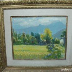 Arte: OLEO DE GRAU. VALL DE BOY (OLOT). 61 X 52 CM.. Lote 194665730