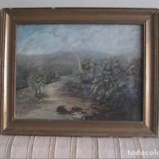 Arte: OLEO SOBRE LIENZO. PAISAJE CAMPIÑA INGLESA. MEDIADOS S.XIX. A RESTAURAR.. Lote 194674236