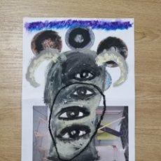 Arte: OBRA DEL ARTISTA GELO TARRAGONA PINTURA Y COLAGE SOBRE HOJA PAPEL. Lote 194677977