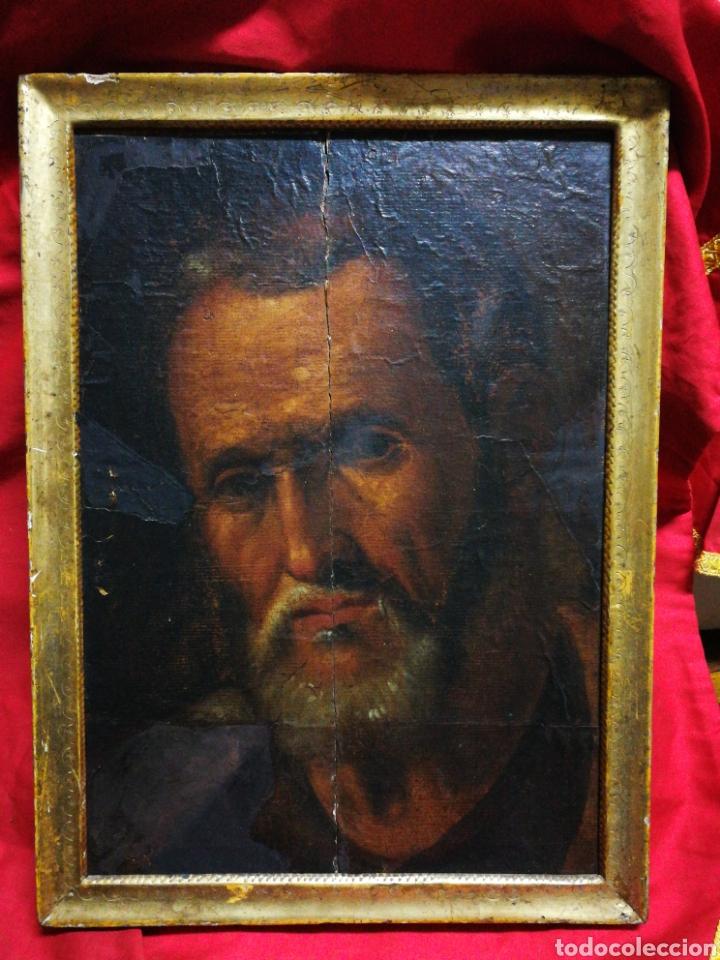 INCREÍBLE ÓLEO BARROCO SOBRE MADERA, ATRIBUIDO A JUAN RIBALTA (ESCUELA ESPAÑOLA),S.XVII. 38X28CM. (Arte - Pintura - Pintura al Óleo Antigua siglo XVII)