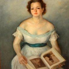 Arte: ERNEST SANTASUSAGNA SANTACREU (BARCELONA, 1900 - 1964) OLEO SOBRE LIENZO FECHADO DEL AÑO 1936. JOVEN. Lote 194694382