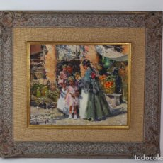 Arte: OLEO SOBRE LIENZO, IBICENCAS. FIRMADO IGNACIO GIL. S.XX.. Lote 194701440
