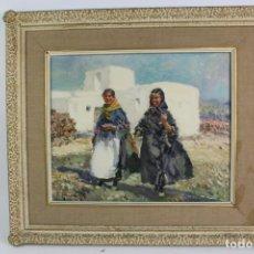 Arte: OLEO SOBRE LIENZO, IBICENCAS. FIRMADO IGNACIO GIL. S.XX.. Lote 194707918