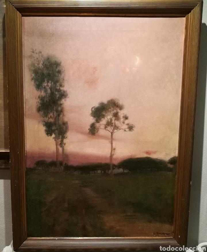 PAISAJE POR LAUREÀ BARRAU (1863-1957) (Arte - Pintura - Pintura al Óleo Moderna siglo XIX)