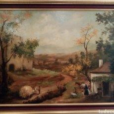Arte: BONITO PAISAJE COSTUMBRISTA GUILLERMO SILONIZ. Lote 194726115