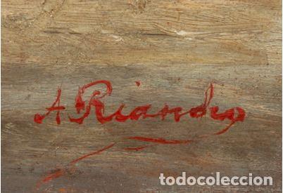 Arte: Agustín Riancho. Puerto Chico. Santander. Barco de Vapor - Foto 2 - 194730761