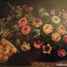 Arte: BODEGÓN OLEO SOBE TELA (RESTAURAR). Lote 194735037