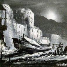 Arte: ESTUPENDO CUADRO AL ÓLEO SOBRE LIENZO DEL PINTOR MALAGUEÑO MANUEL ESCALONA. BUEN ESTADO.. Lote 194735227