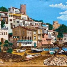 Arte: J. TRILLA, BEGUR, SA TUNA, COSTA BRAVA AÑO 1997, 46X38 CM. Lote 194735473