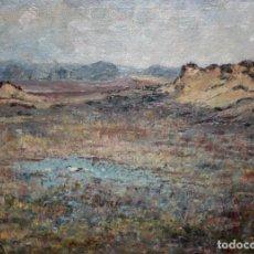 Arte: ESCUELA ESPAÑOLA DE AUTOR ANÓNIMO. OLEO SOBRE TELA DE APROXIMADAMENTE 1900. PAISAJE. Lote 194740303