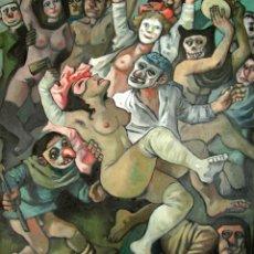 Arte: CELEDONIO PERELLON, MAGNIFICA PINTURA ORIGINAL, HOMENAJE A GOYA, FIRMADA.. Lote 194752250