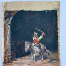 Arte: PINTURA COSTUMBRISTA ESCUELA VALENCIANA 1905. Lote 194768188