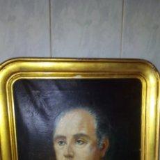 Arte: ANTIGUO CUADRO OLEO SOBRE LIENZO,RETRATO REALISTA ,FIRMADO,58X70 CM.. Lote 194779998