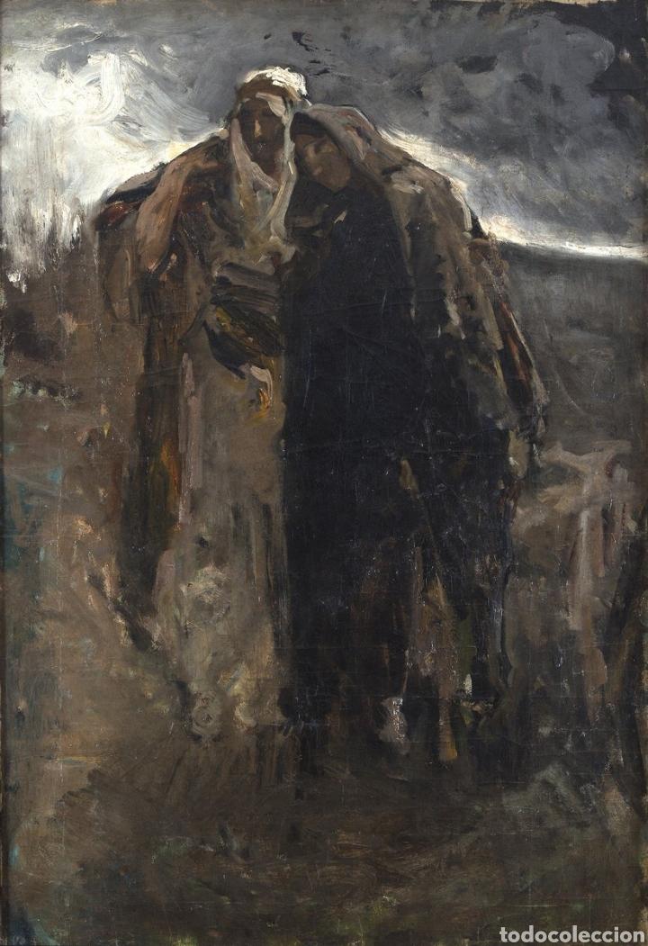 JOAQUÍN SOROLLA (1863-1923) LA VIRGEN Y SAN JUAN. OLEO LIENZO (Arte - Pintura - Pintura al Óleo Moderna siglo XIX)