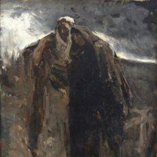 Arte: JOAQUÍN SOROLLA (1863-1923) LA VIRGEN Y SAN JUAN. OLEO LIENZO. Lote 194782183