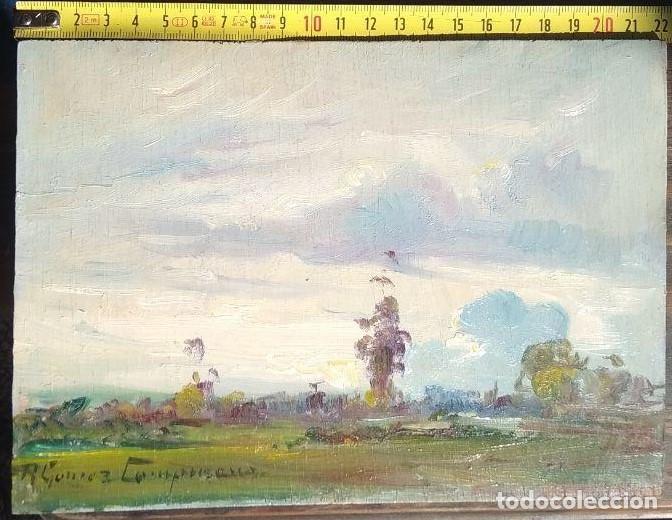 SABANA, BOGOTÁ. ÓLEO SOBRE TABLA. RICARDO GÓMEZ CAMPUZANO. (1891-1981 COLOMBIA) (Arte - Pintura - Pintura al Óleo Moderna sin fecha definida)
