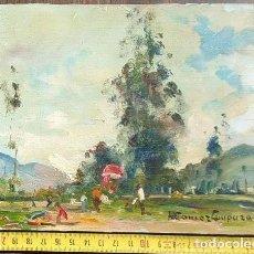 Arte: GLOBO 1969. ÓLEO SOBRE TABLA. RICARDO GÓMEZ CAMPUZANO. (1891-1981 COLOMBIA). Lote 194783622