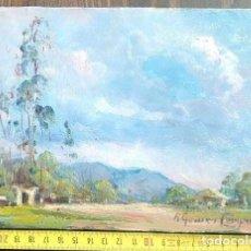 Arte: PAISAJE. ÓLEO SOBRE TABLA. RICARDO GÓMEZ CAMPUZANO. (1891-1981 COLOMBIA). Lote 194783700