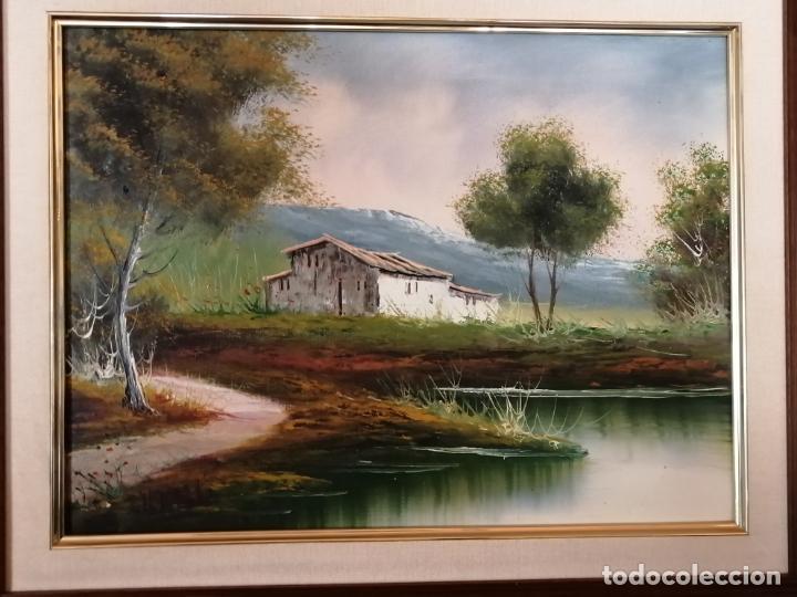 Arte: ÓLEO SOBRE LIENZO. PAISAJE. FIRMADO - Foto 2 - 194786037