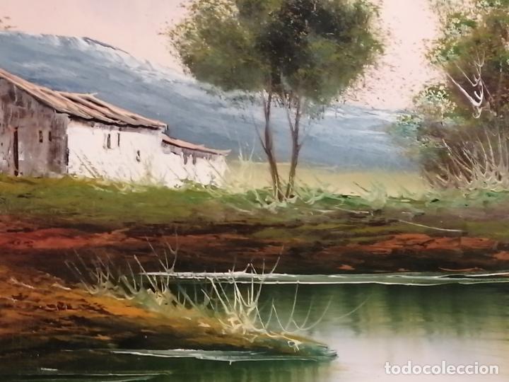 Arte: ÓLEO SOBRE LIENZO. PAISAJE. FIRMADO - Foto 3 - 194786037
