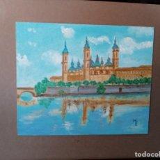 Arte: O/T. BASILICA DEL PILAR. ZARAGOZA. FDO. M.E.. Lote 194859063