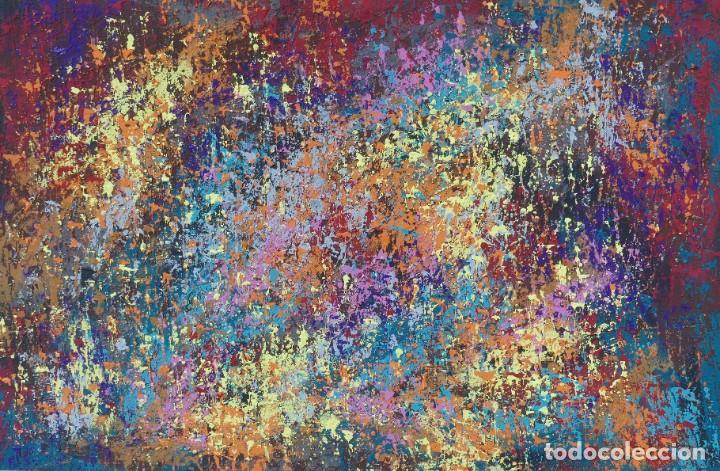 PINTURA ABSTRACTA RECIENTE DE JOSE SANZ SALA REALIZADA SOBRE TABLERO ( 2020 )( SOLO RECOGIDA ) (Arte - Pintura - Pintura al Óleo Contemporánea )