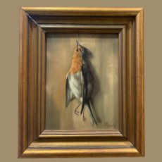 Arte: IMPRESIONANTE PETIRROJO MUERTO, JUAN PADILLA Y LARA. Lote 194868095
