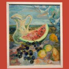 Arte: NATURALEZA MUERTA CON SANDIA. Lote 194868453